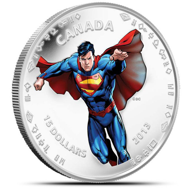 2013 Modern Day Superman Half Ounce Silver $15 Canadian Coin