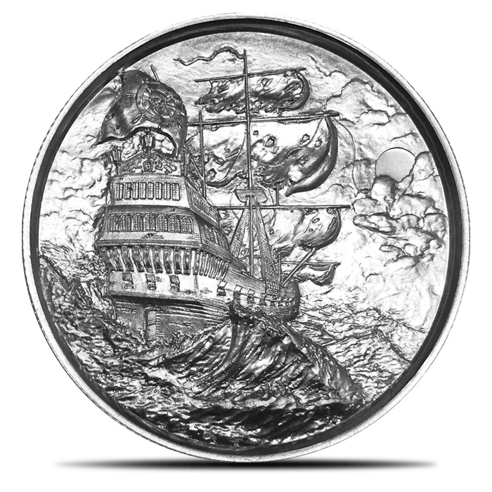 Elemetal two ounce Silver Privateer Round
