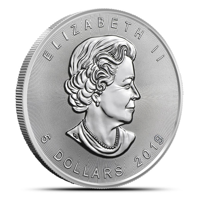 2019 Canadian Silver Maple Leaf Coin Obverse