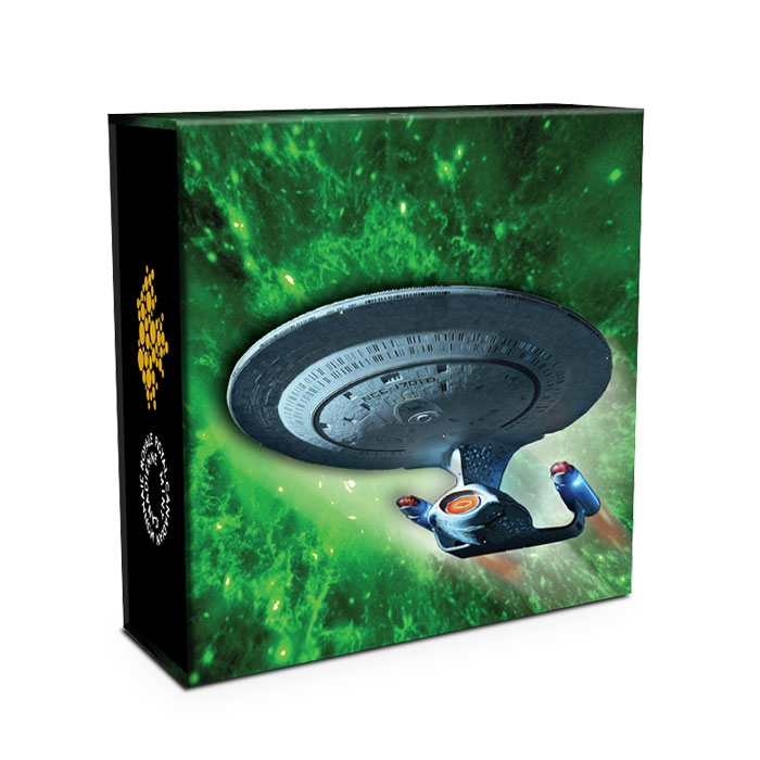 Packaging for 2018 Star Trek Enterprise Silver Coin
