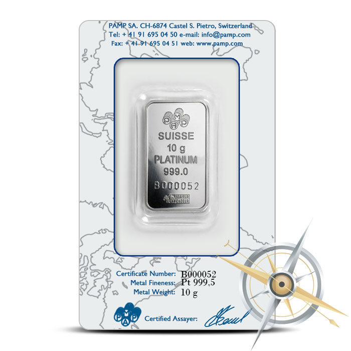 PAMP Suisse Platinum Fortuna Bar | 10 grams