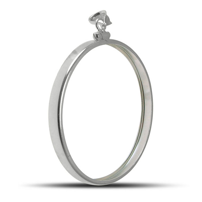 Sterling Silver Plain Front Bezel | 40.6 mm