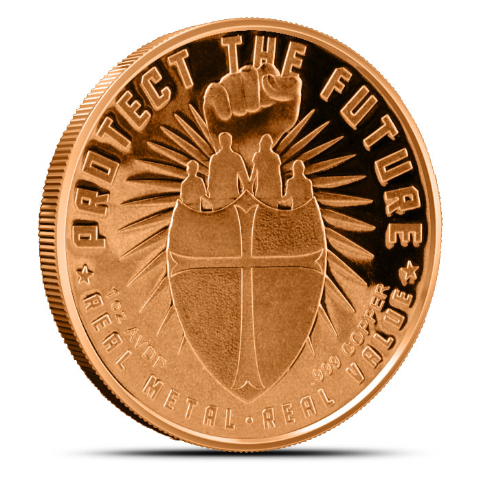 Safety in Numbers 1 oz Copper Round | Guns and Gold Reverse