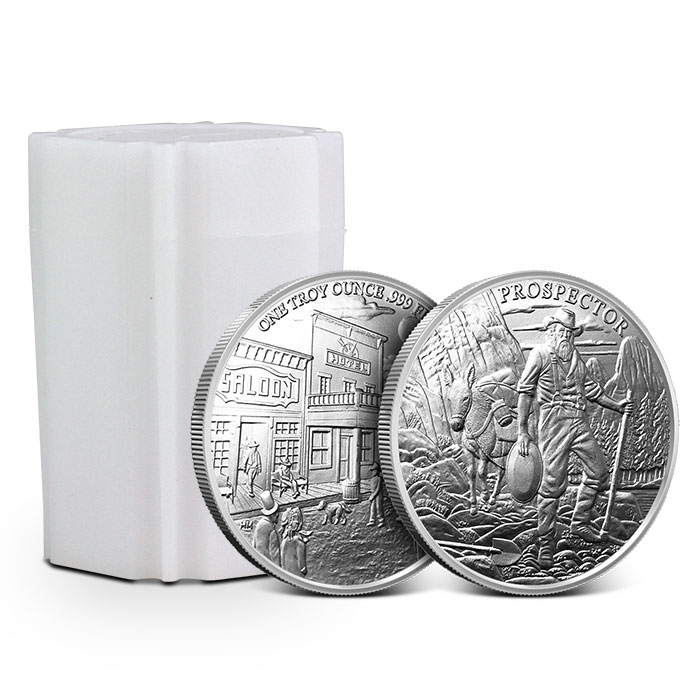 Uncirculated 1-1 oz .999 Silver Round New Provident Prospector
