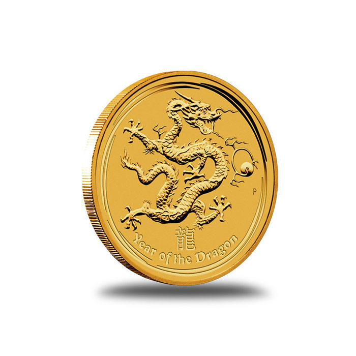 Perth Mint Lunar Series 2 2012 1/4 oz Gold Lunar Year of the Dragon Coin