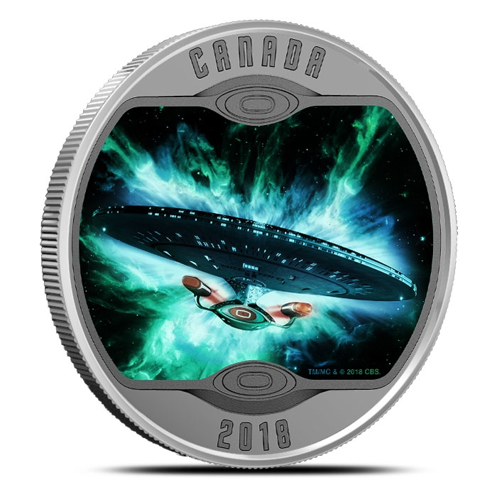 Star Trek Enterprise Silver Coin