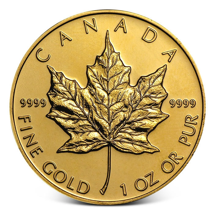 One Ounce Canada Gold Maple Leaf Coin Random Date