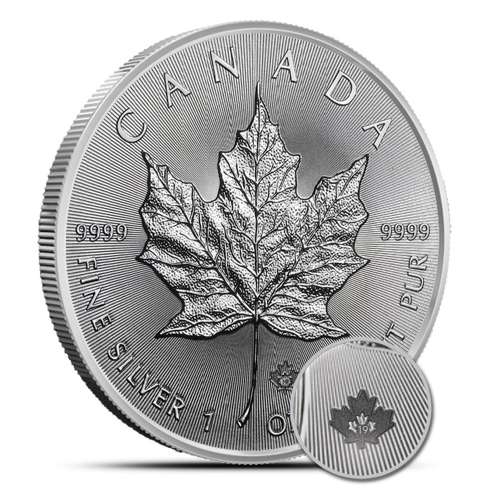 2019 Canadian Silver Maple Leaf Roll