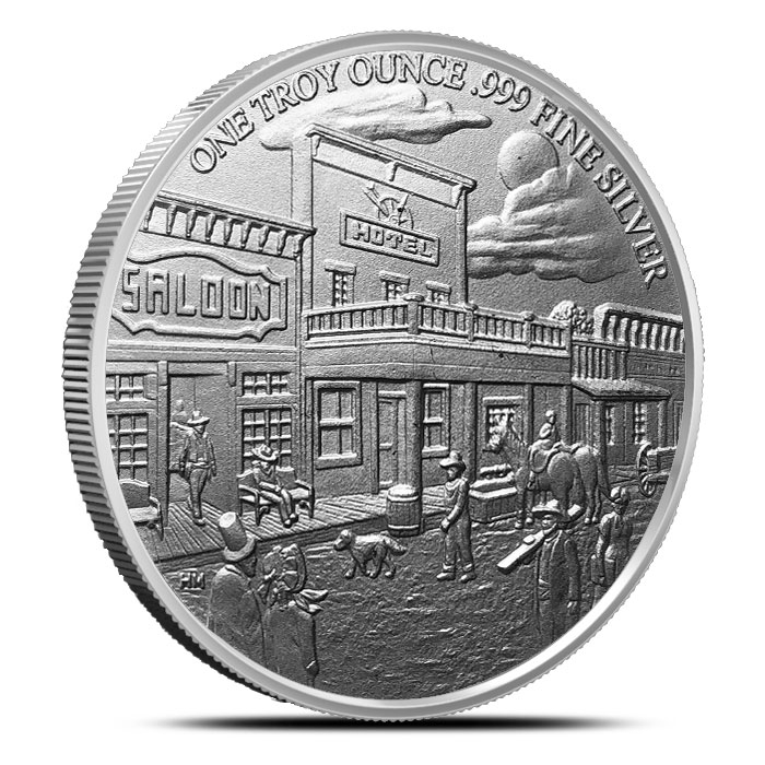 Prospector Series 1 oz Silver Round Reverse