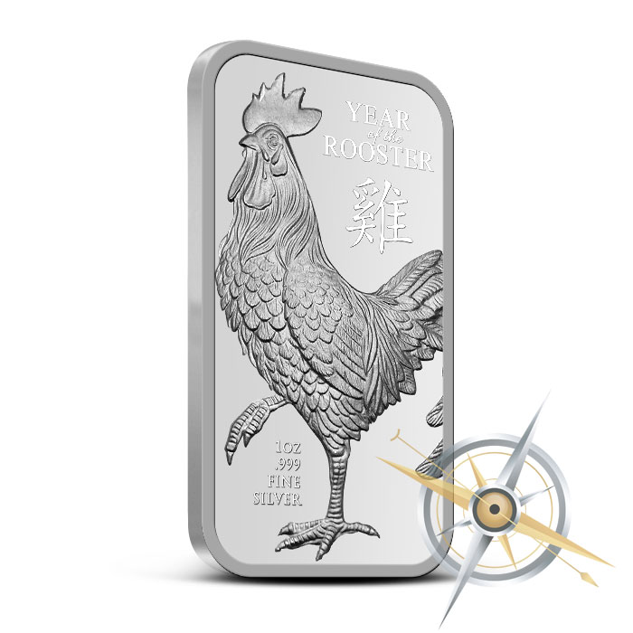 Year of the Rooster 1 oz Silver Bar
