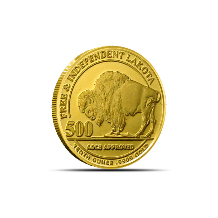 1 10th Oz American Horse Proof Like Gold Round Buy 9999