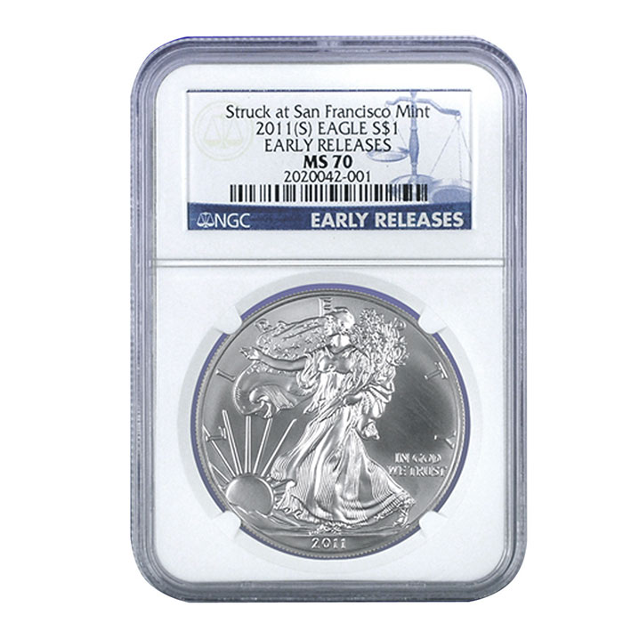 2011 San Francisco Silver Eagle | NGC MS70 Early Release | PERFECT!-0