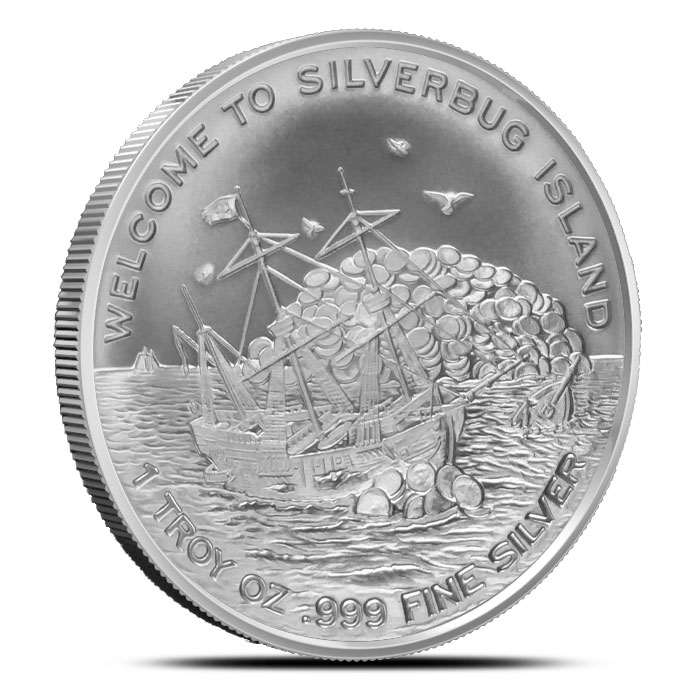 Proof /& Uncirculated Coins 2015 Finding Silverbug Island 1 oz Silver 2 Rounds