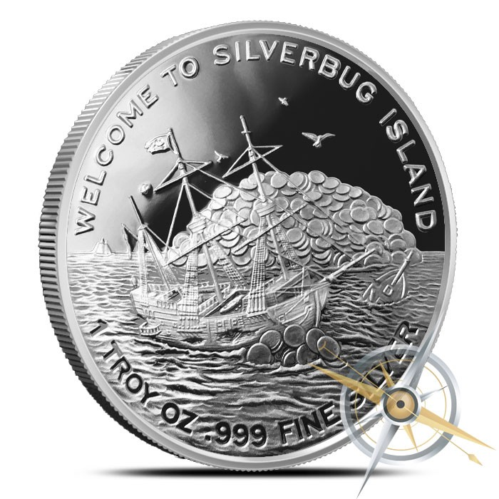 Silverbugs Mermaid 1 oz Silver Round | Proof