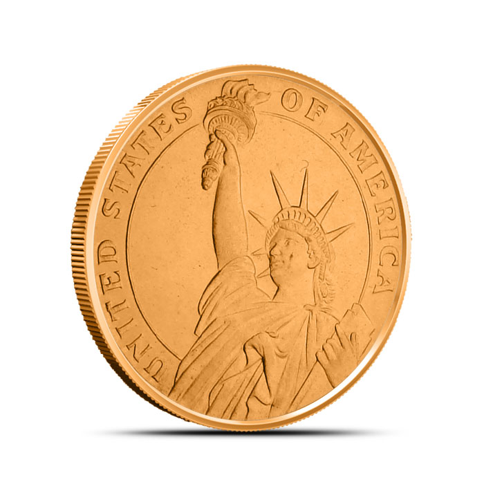 Statue of Liberty 1/2 oz Copper Round Obverse