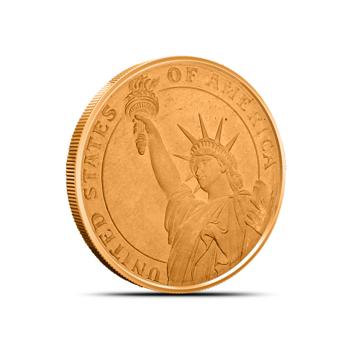 Statue of Liberty 1/4 oz Copper Round