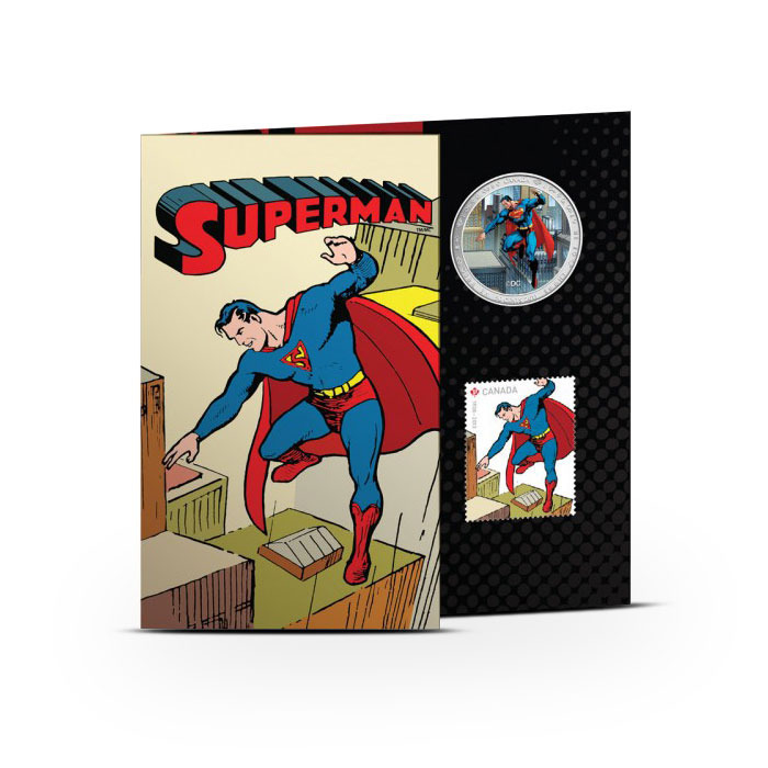 2013 Superman- Then and Now Coin and Stamp Set