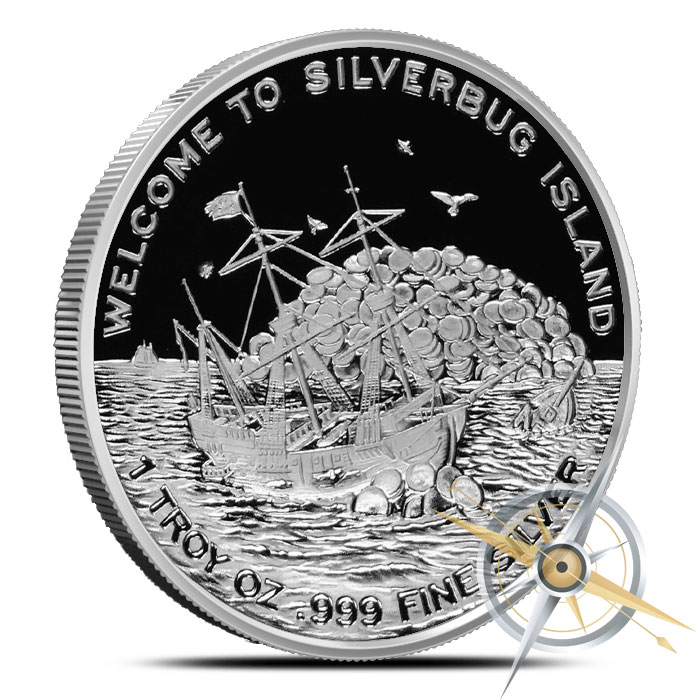 2015 Finding Silverbugs Island one ounce Silver Round Set | Proof and Antiqued