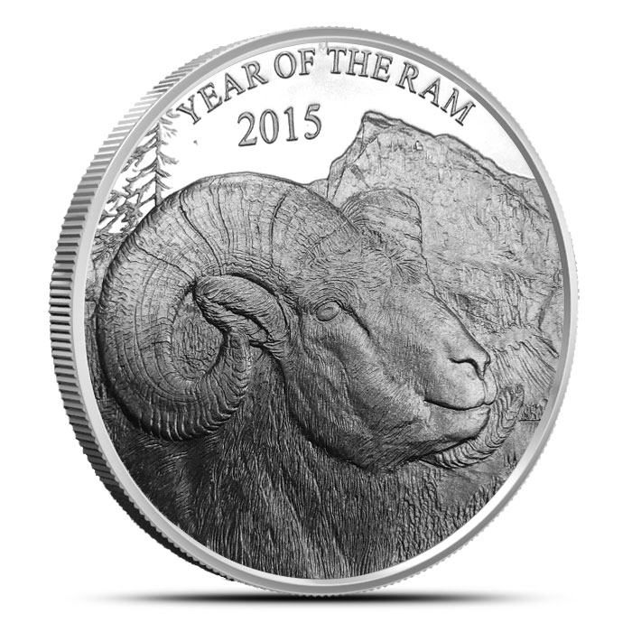 2015 Year of the Ram | 1 oz Silver Round