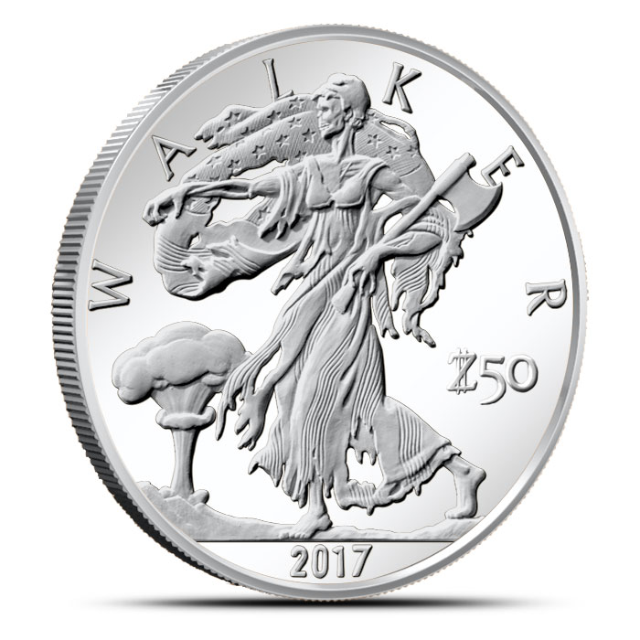 Zombucks Walker 1 oz Silver Round
