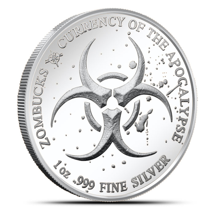 Zombucks Walker One Ounce Silver Round